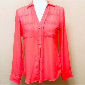Neon Pink EXPRESS Original Fit Portofino Shirt